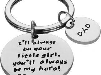 i will always be your little girl keychain