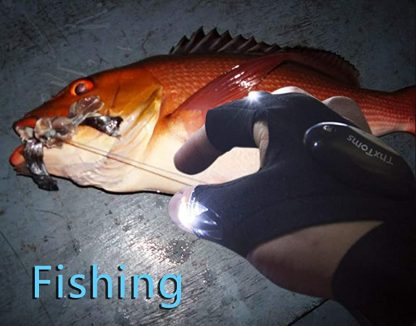 led flashlights gloves fishing