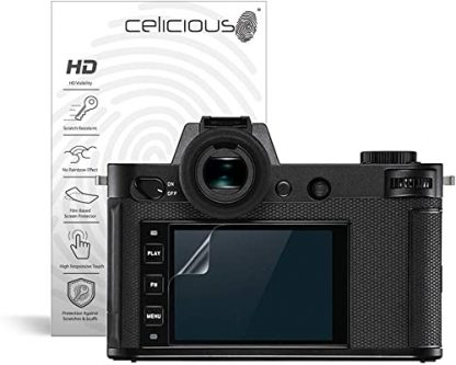 celicious vivid invisible glossy hd screen protector film compatible with leica sl2