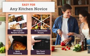 easy for any kitchen novice COSORI premium 5.8 quart air fryer model CP358-AF
