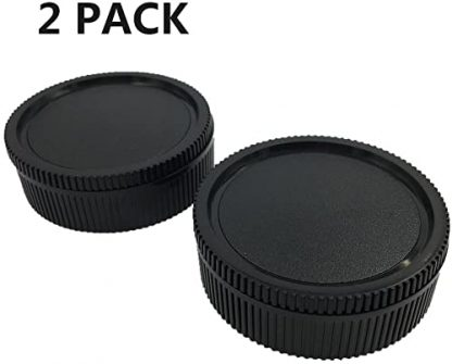 lxh camera front body cap and rear lens cap cover kit for leica sl2