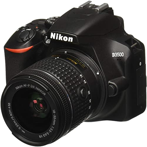 Nikon D3500 Camera with AF-P DX NIKKOR 18-55mm f/3.5-5.6G VR Lens.